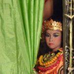 En coulisse lors d'une cérémonie locale à Bali