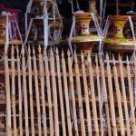 Lanternes colorées à Goa Lawah
