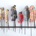 Marionnettes balinaises en cuir de buffle
