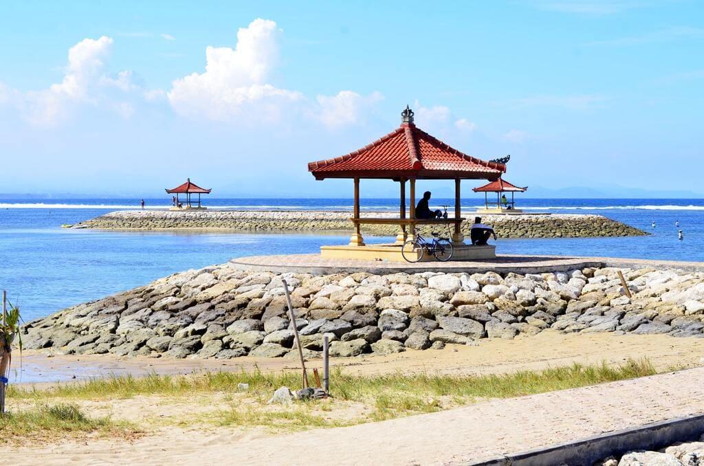 La plage de Sanur à Bali