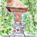 Petit autel à Gunung Kawi
