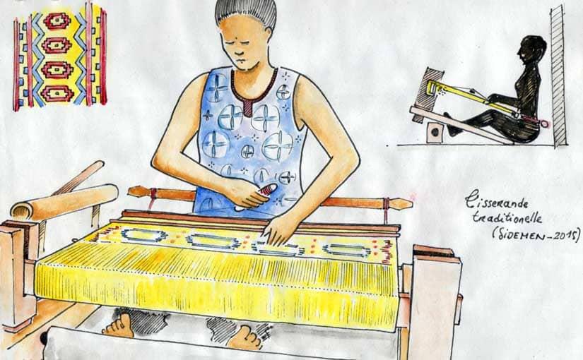 Tisserande traditionnelle à Sidemen