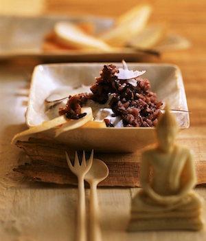Black Rice Pudding à la noix de Coco.