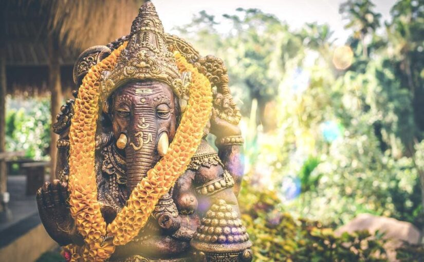Statue de Ganesh en bronze à Bali