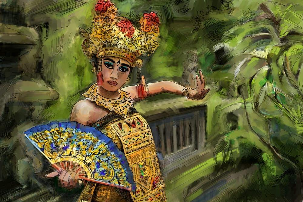 Danseuse de Legong à Sukawati